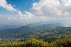 Landscape of rural city in moutain at northern thailand. Royalty Free Stock Photos
