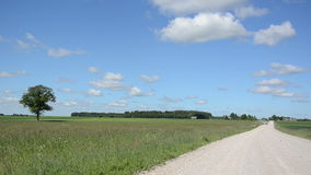 Landscape rural road car stock footage