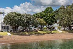 Landscape from Russell near Paihia, Bay of Islands, New Zealand Stock Photography