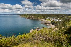 Landscape from Russell near Paihia, Bay of Islands, New Zealand Royalty Free Stock Photo