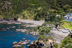 Landscape from Russell near Paihia, Bay of Islands, New Zealand Royalty Free Stock Images