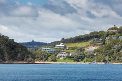 Landscape from Russell near Paihia, Bay of Islands, New Zealand Stock Image