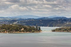 Landscape from Russell near Paihia, Bay of Islands, New Zealand Royalty Free Stock Photos