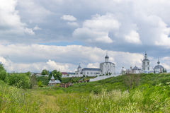 Landscape with the Russian Orthodox Church and cloudy sky. Russi Stock Photography