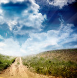 Landscape. Russian landscape in summer style Royalty Free Stock Photo