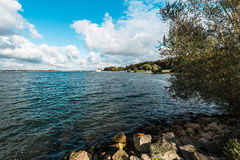 Landscape of Rutland Water Park, England. Rutland Water Park in England stock image