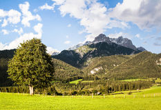 austrian countryside landscape Royalty Free Stock Photo