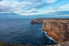 Landscape at Sagres fortress during sunset Royalty Free Stock Photo