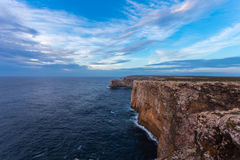 Landscape at Sagres fortress during sunset Royalty Free Stock Images