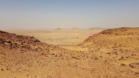 Landscape of sahara algeria stock photo