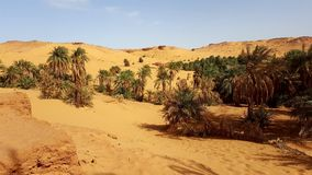 Landscape of sahara algeria stock photos