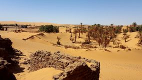 Landscape of sahara algeria stock images