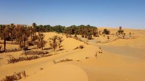 Landscape of sahara algeria Stock Image