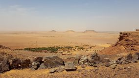 Landscape of sahara algeria stock photography
