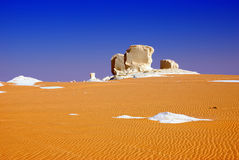 Landscape of the Sahara desert Royalty Free Stock Photos