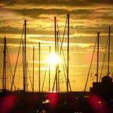 Landscape sailing villasimius Stock Images
