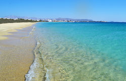 Landscape of Saint Prokopios beach Naxos Greece stock photography