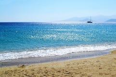 Saint Prokopios beach at Naxos island Cyclades Greece Royalty Free Stock Images
