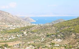 Landscape of Salamis island Greece stock photography