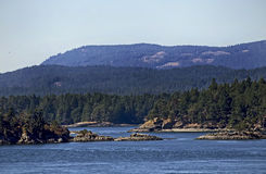 Landscape in Salish Sea in British Columbia Stock Photo