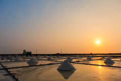 Landscape of the salt farm Royalty Free Stock Photo