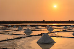 Landscape of the salt farm Stock Photos
