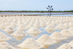 The landscape of Salt fields Stock Photos