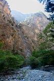 Landscape Samaria Gorge Canyon, Crete, Greece Stock Images
