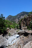 Landscape Samaria Gorge Canyon, Crete, Greece Royalty Free Stock Photography