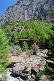 Landscape Samaria Gorge Canyon, Crete, Greece Stock Photos