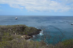 Landscape at San Cristobal Island - Galapagos. A landscape view of  the Pacific Ocean from the Frigatebird Hill at San Cristobal Island, Galapagos Stock Photo