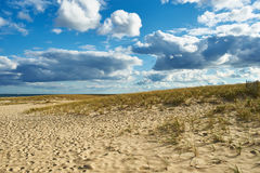 Landscape with sand dunes at Cape Cod Stock Photo