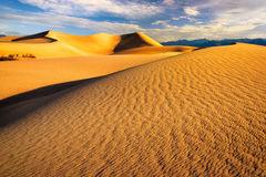 Landscape of sand dunes in Death Valley California Royalty Free Stock Images