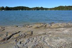 Landscape of Sandspit beach New Zealand Stock Photography