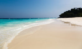 Landscape on a sandy beach the island  in Thailand Stock Image