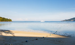 Landscape a sandy beach Royalty Free Stock Images