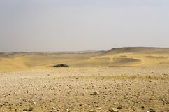 Landscape of the sandy desert. In Giza Stock Photos