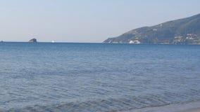 The Koukla beach, island Zakynthos, Greece. Landscape of sandy Koukla beach, island Zakynthos, Greece stock footage