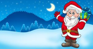Landscape with Santa Claus 2 Royalty Free Stock Photography