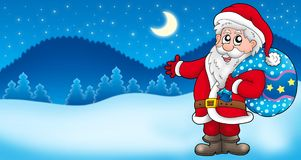 Landscape with Santa Claus 3 Stock Photo