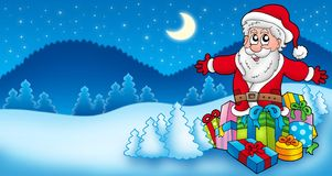 Landscape with Santa Claus 6 Royalty Free Stock Photography