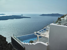Landscape of Santorini Island, Fira, Cyclades, Greece Royalty Free Stock Images