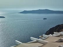 Landscape of Santorini Island, Fira, Cyclades, Greece Stock Images