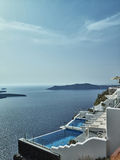 Landscape of Santorini Island, Fira, Cyclades, Greece Royalty Free Stock Photos