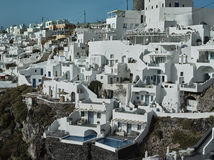 Landscape of Santorini Island, Fira, Cyclades, Greece Stock Photo