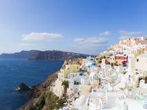 Landscape Santorini Island, Fira, , Greece. Landscape with sea of Santorini Island, Fira, Greece Stock Photos