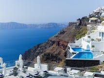 Landscape Santorini Island, Fira, , Greece. Landscape with sea of Santorini Island, Fira, Greece Stock Photography
