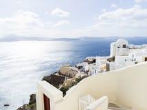 Landscape Santorini Island, Fira, , Greece. Landscape with sea of Santorini Island, Fira, Greece Royalty Free Stock Images