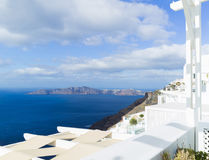 Landscape Santorini Island, Fira, , Greece. Landscape with sea of Santorini Island, Fira, Greece Royalty Free Stock Image