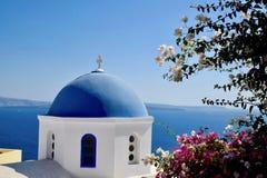 Landscape in Santorini royalty free stock photography